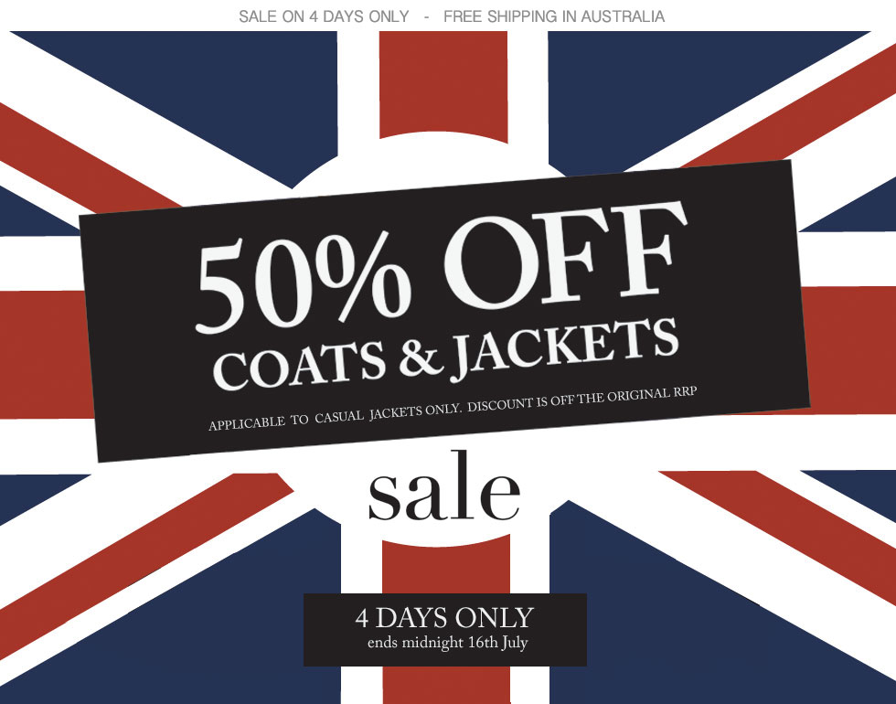 50% OFF Coats & Jackets